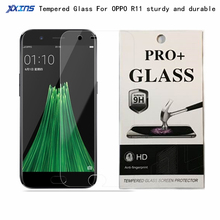 HD Tempered Glass For OPPO R11 5.5 inch Screen Protect 154.5x74.8x6.8mm Toughened Protective Film Free shipping цена 2017