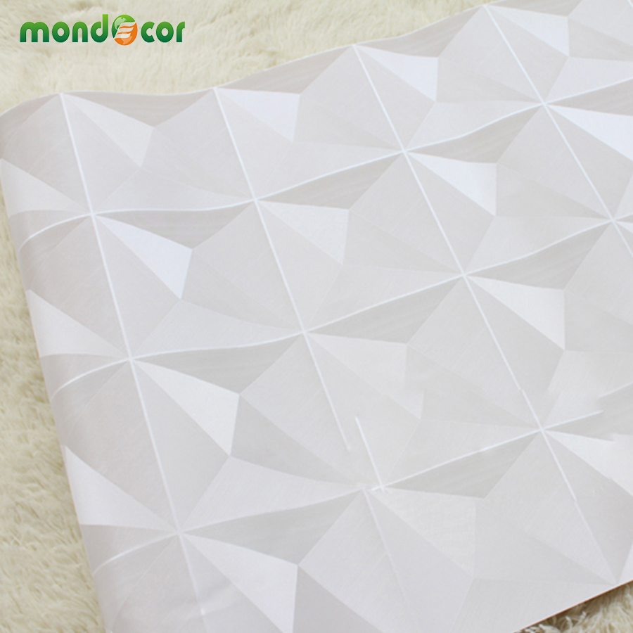 Mondecor european luxury diamond pattern wallpaper living - Revetement mural exterieur pvc ...
