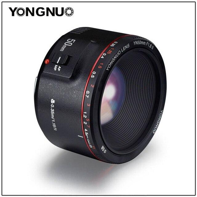 YONGNUO YN50mm F1.8 השני גדול צמצם אוטומטי פוקוס עדשת 50mm Lentes עבור Canon 100d 650d 5d 77d 500d 1000d 5DIV 5 5DIII 5DII 5D 60D