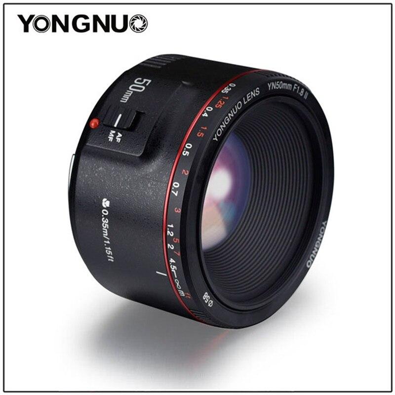 YONGNUO YN50mm F1.8 II большой апертурой Авто фокусная линза 50 мм Lentes для Canon 100d 650d 5d 77d 500d 1000d 5DIV 5diii 5DII 5D 60D