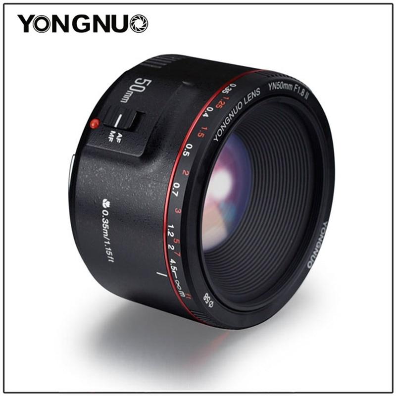 YONGNUO YN50mm F1.8 II Grande Ouverture Automatique Focale 50mm Lentes Pour Canon 100d 650d 5d 77d 500d 1000d 5DIV 5DIII 5DII 5D 60D