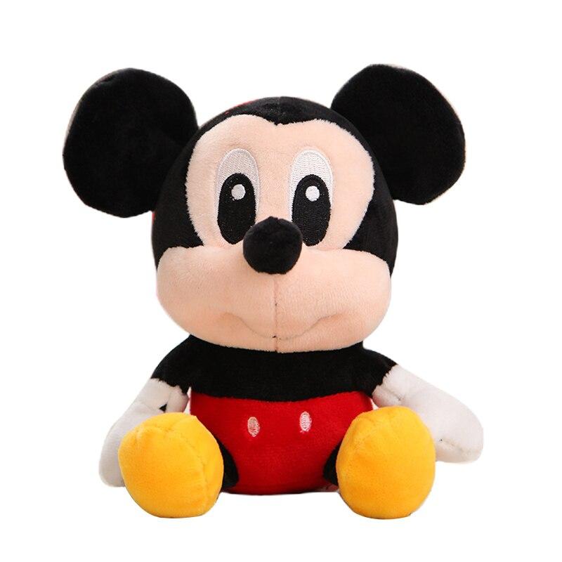 Дисней мягкие животные Плюшевые Микки Маус Минни Винни Пух Кукла Лило и чехол для телефона поросенок Стич брелок Подарочный на день рождение малыш девочка игрушка - Цвет: Mickey