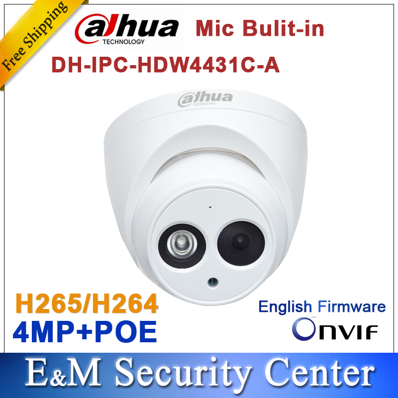 Dahua 4MP Network IP Camera IR POE CCTV Mic Built-in dome
