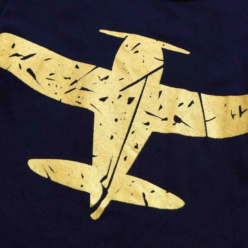 Летние детские топы с короткими рукавами и принтом самолета для мальчиков, футболки, летний топ 15