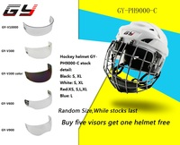 2017 Hot Sale CE approved clear Outside Anti scratch and Inside Anti fog hockey visor for Hockey Sports