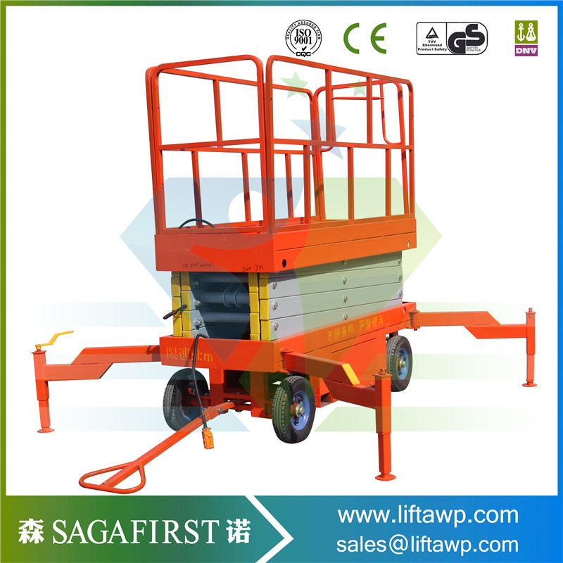 Lifting Height 6-20m Mobile Scissor Lift With CE Certificate
