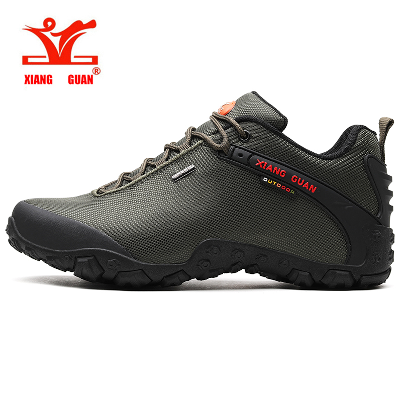 Men Waterproof Outdoor Hiking Boots Breathable Leather Mountain Boots for Men Anti-skid Winter Sneakers Trekking Shoes 81283