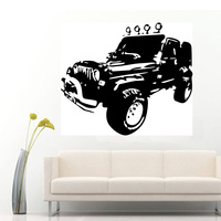 JEEPS WRANGLER Rubicon Sahara Wall Art Sticker Decal 2 Sizes Can Choose