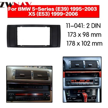 Car DVD Player frame For 1995-2003 BMW 5 E39/1999-2006 X5 E53 2DIN Auto Radio Multimedia NAVI fascia image