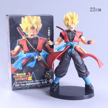 22cm Dragon Ball Super Z Hero Saiyans Sun Goku Action Figure Dragonball Figurines PVC Collectible Model Toy Show Gifts for child фото