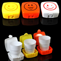 New Vogue Outdoor Travel Retractable Folding Cup Telescopic Collapsible With Lid Portable Soft Water Drinking Cup  8cm