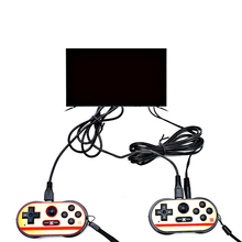 Retro rs 90 handheld game players two joystick av output tv game store classic 260 in 1 video game console