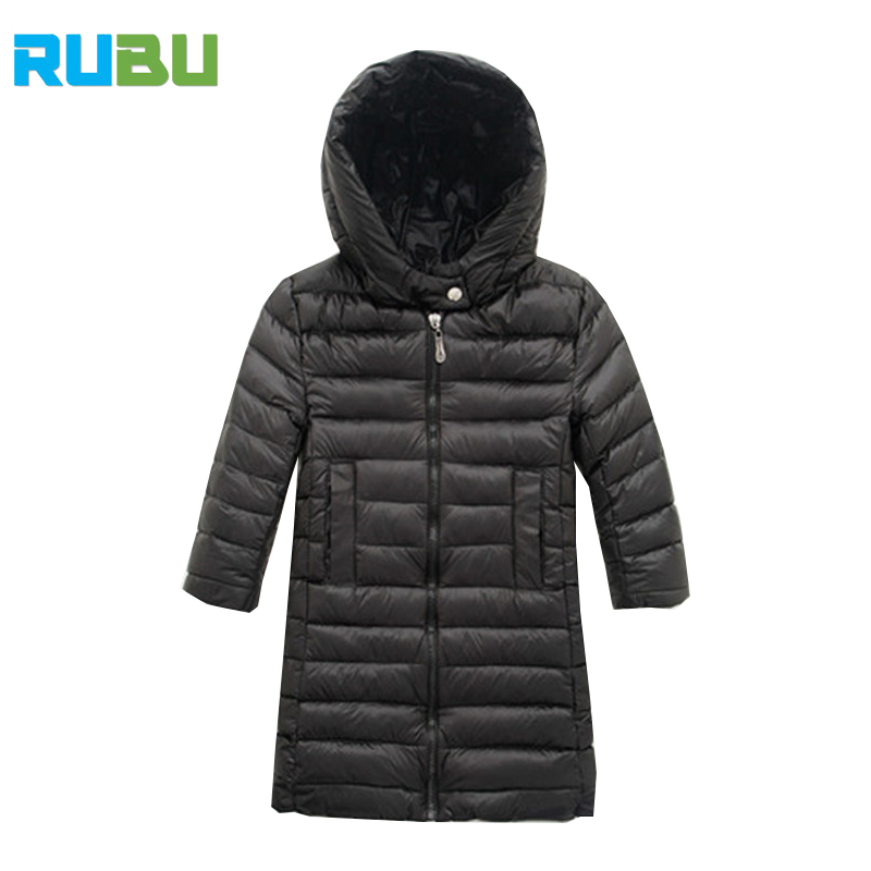 2017 New Baby Girl Boy Coat Jacket Children Hooded Jacket Winter Down Coat Warm Clothes Fashion Coat Long Kids Outerwear JSB357 russia 2016 children outerwear baby girl winter wadded jacket girl warm thickening parkas kids fashion cotton padded coat jacket