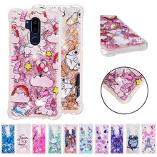 LUCKBUY Soft TPU Back Case For LG V20 V30 K4 K7 K8 K10 G7 Butterfly OWL Liquid Glitter Quicksand Phone Q Stylus Stylo 3 4