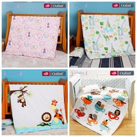 i baby Baby Bedding Set 4pcs Crib Fitted Sheets Set Baby Duvet Cover Newborn 100% Cotton Printed Sheets Pillow Cot Sets in Crib