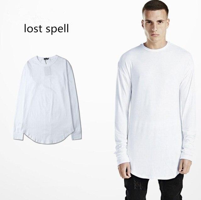 5dc26292fa8a 2018 Mens Oversize Long Sleeve Tee Shirt Homme Men Hip Hop tshirt Punk  Camiseta Justin Bieber Streetwear Clothes
