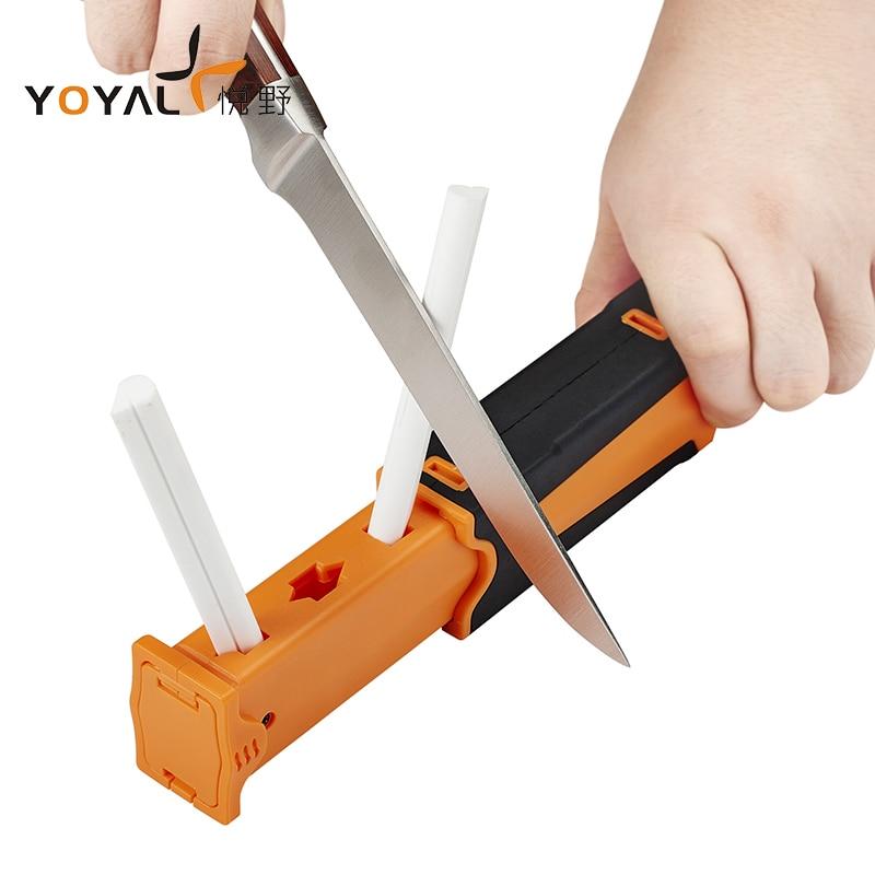 YOYAL Professional Outdoor Hunting Knife Sharpener Grinding Tool Portable Diamond &Ceramic Sharpening Machine Camping Practical