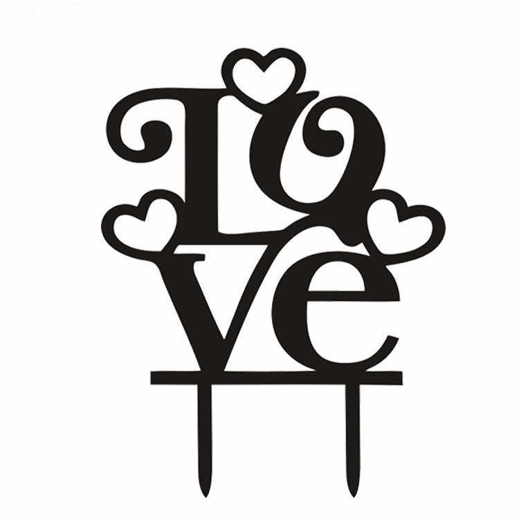 Hot Menjual Cinta Hati Acrylic Kue Bendera Hitam Putih Kue Toppers Untuk Pernikahan Ulang Tahun Pesta Pertunangan Dekorasi Kue Cake Topper Untuk Pernikahancinta Hati Aliexpress