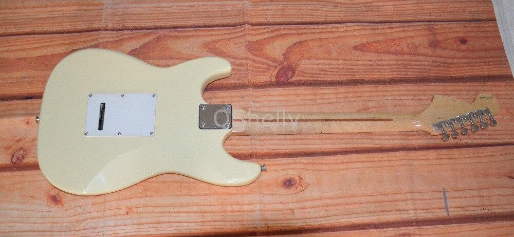 Высокое качество QShelly заказной крем кленовый рельефный гриф Yngwie Malmsteen ST электрогитара музыкальный инструмент магазин