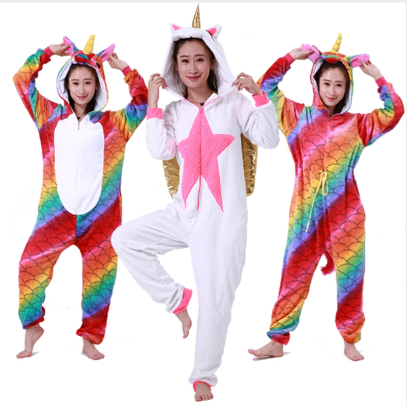 Animal Costume Onesies Adult Overall Pajama wholesale Women Men Party Jumpsuit Cartoon O ...