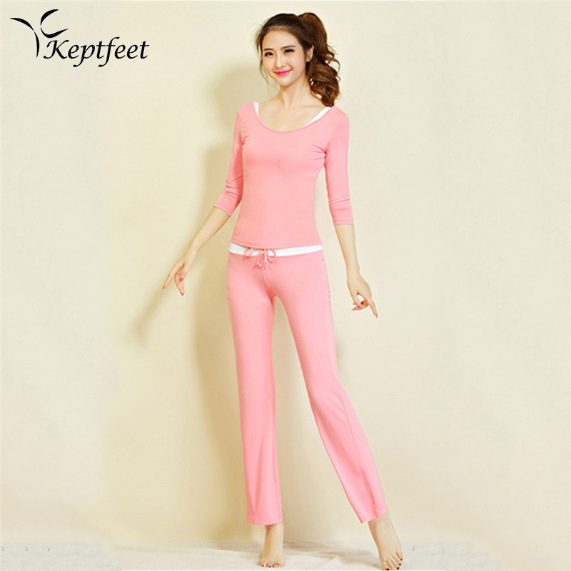 2017 New Pink Yoga Tracksuits 3Pcs/Set Breathable Fitness Clothes Sportswear Sports Suit For Women Yoga Fitness Clothing