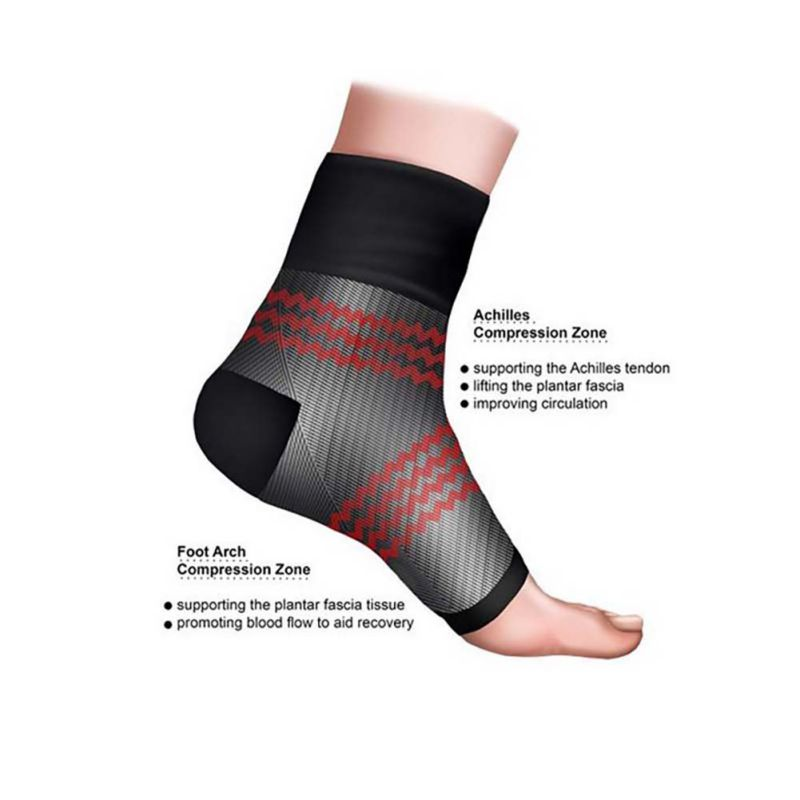 1 Pair Men Anti Fatigue Angel Circulation Foot Ankle Socks Protector Swelling Relief Compression Foot Sleeve Comfortable Socks