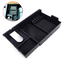 DWCX Car Black ABS Plastic Center Console Storage Box Arm Rest Glove Tray Case Fit for Toyota Tundra 2014 2015 2016 2017 2018