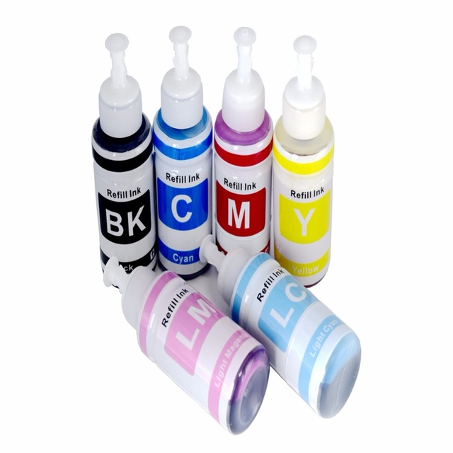 6 color 70ml Refill Ink Kit for Epson L800 L801L351 L353 L551 printer ink Cartridge