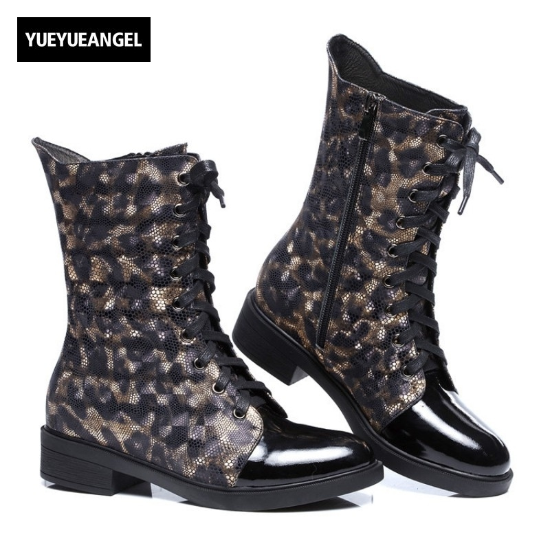 New Fashion Genuine Leather Boots Martin Boots Women Winter Fleece Lining Round Toe Motorcycle Biker Female Shoes Zipper Lace Up enmayer new motorcycle boots for women sexy rivet shoes fashion martin boots genuine leather boots