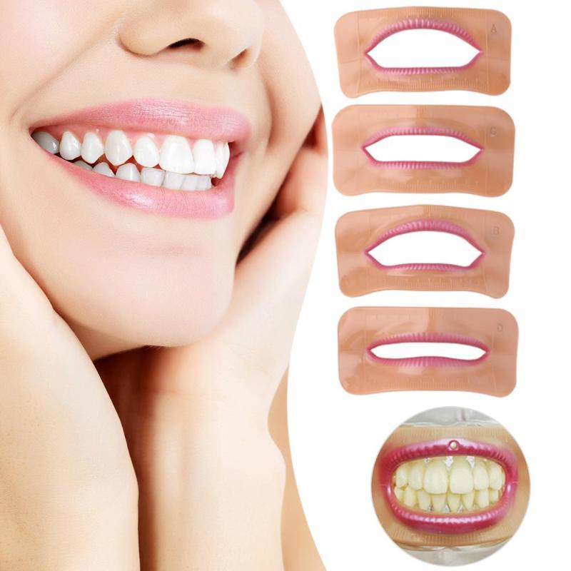 Measurement-Tools Lip-Model Denture Laboratory Different-Shape Mouth 4pcs Suooprt