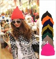 1pcs,autumn and winter pure color leisure high top onion cap,  fashion knitted hat, cap women and men,multicolor, free shipping