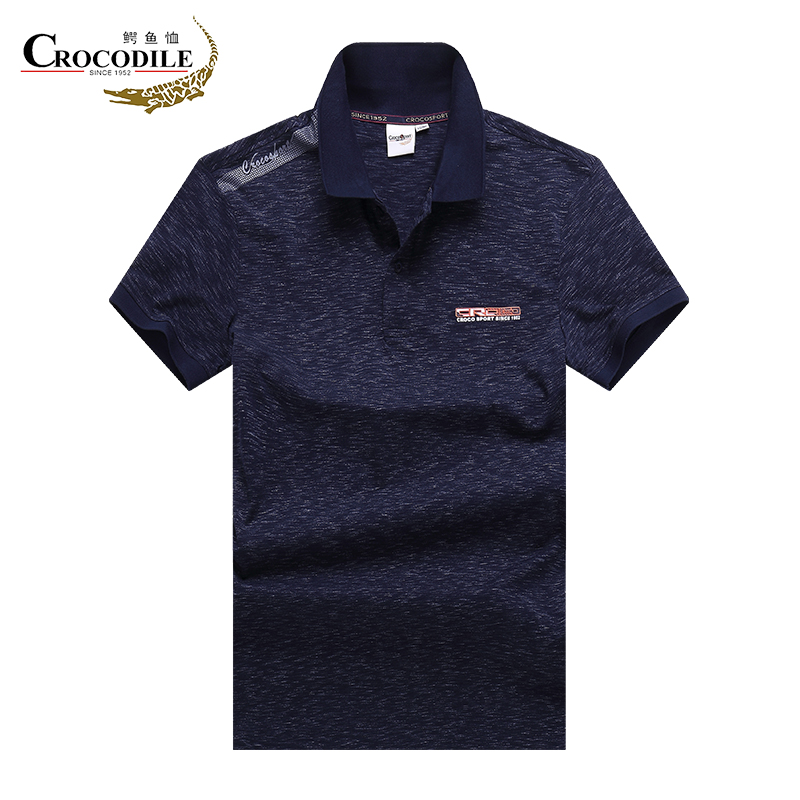 Crocosport 39 s Summer for Men Running Polo Shirt Male Breathable Cotton Short sleeve T shirt