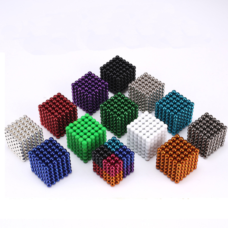 5mm Neo Cube Metaballs Magnetic Magic Cube Bucky Magcube Blocks Teaching Balls With Metal Box