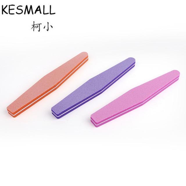KESMALL 5Pcs/Lot Mix Color Nail Files Sponge Diamond Nail Buffer ...