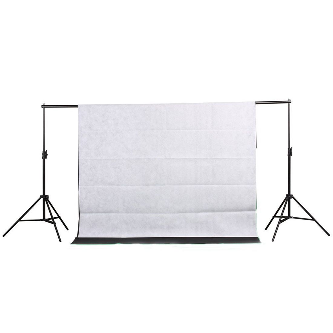 Top Deals Studio Photography Backdrop Kit Backdrop Support Stand Kit, Includes 2x Backdrop Screen(Black & White), Background S