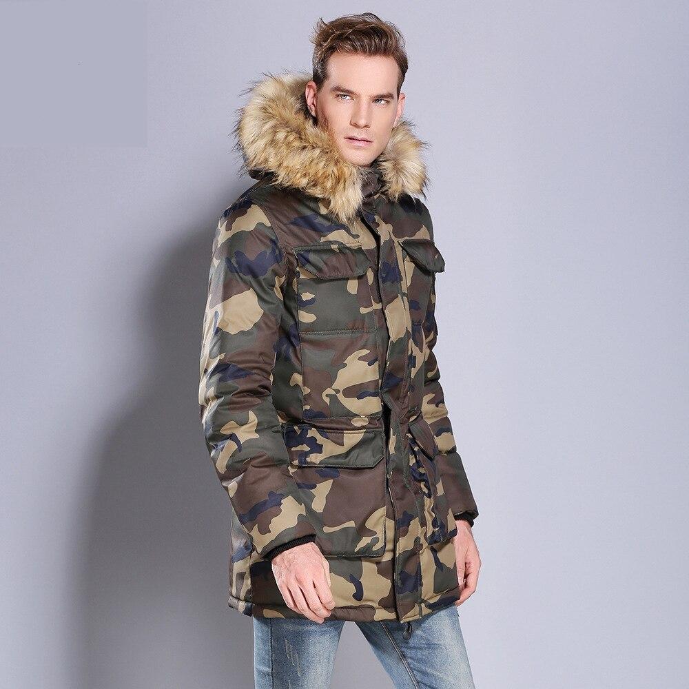2019 Men 39 s Jacket Winter Coat Men camouflage Hooded Thick Parkas Hombre padded windproof cotton Windbreaker warm coat DA014 in Parkas from Men 39 s Clothing