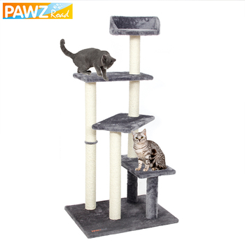 Cat Tree Toy H125 CM Big Size 5 Levels Wood Cat Scratching Post Funny Playing Climbing Frame Cat Tree House Condo Furniture