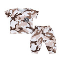 2017 New Children Clothes Set Summer Camouflage Kids Clothing Set For Boy Girl Cotton Sports Suit Short Sleeve Active Tracksuit