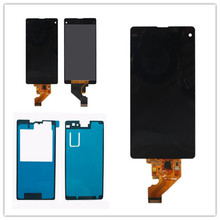 Lcd display +touch digitizer screen assembly for sony Xperia Z1 Compact z1Mini Z1c M51w D5503 +front adhesive free shipping