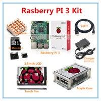 Raspberry Pi 3 Model B Board 3 5 TFT LCD 8GB TF Card 2 5A