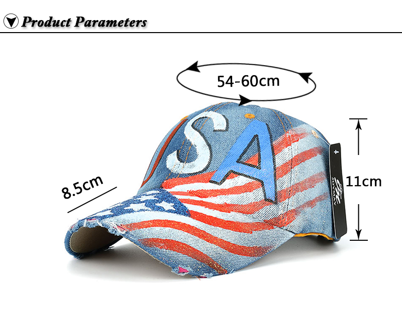 """""""USA"""" Flag Screen Print Dad Hat - Product Parameters"""