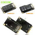 mini PCIe PCI-e to wireless wifi 3G network card BCM94360CD / BCM94331CD module with Bluetooth 4.0 for macbook Pro/Air