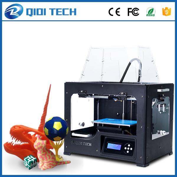 Prix pour 2017 Date De Haute Qualité QIDI TECH Je Double extrudeuse 3D imprimante avec mise à niveau 7.8 version carte mère W/2 livraison ABS PLA filaments