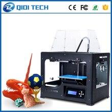 2017 Последним Высокое Качество QIDI ТЕХНОЛОГИЙ Я Двойной экструдер 3D принтер с обновленной версии 7.8 материнская плата W/2 бесплатно ABS PLA нити
