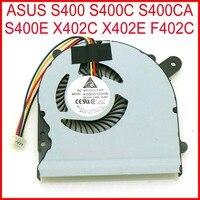 Darmowa wysyłka nowy KSB06105HA DC5V 0.4A 4Pin wiatrak do Asusa S400 S400C S400CA S400E X402C X402E F402C wentylator do procesora w Wentylatory i chłodzenie od Komputer i biuro na