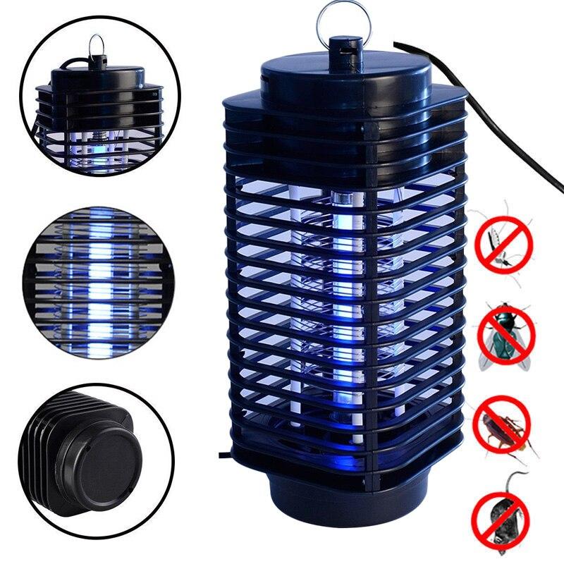 Assassino do mosquito armadilha elétrica traça lâmpada led fotocatálise bug inseto luz preto matar pragas zapper anti mosquito plug ue eua