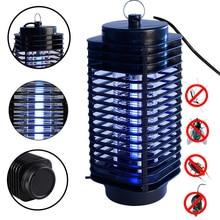 Электрическая ловушка для летающих насекомых, светодиодная лампа Moth, Фотокатализ, жук, инсектицидная лампа, черная, «электронная мухобойка», противомоскитная вилка EU US