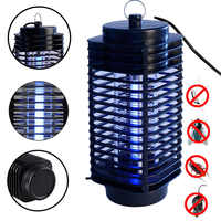 Electric Mosquito Killer Trap Moth Led Lamp Photocatalysis Bug Insect Light Black Killing Pest Zapper Anti Mosquito EU US Plug