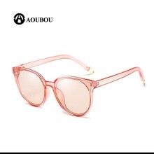 Round face Retro Literature and art Men and women sunglasses Transparent rave lunette de soleil homme pink lunette femme
