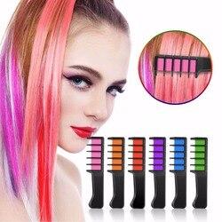 Модные сексуальные 8 цветов Ameauty временный Мел для волос Косплей DIY нетоксичные моющиеся волосы цветной гребешок для вечерние макияж